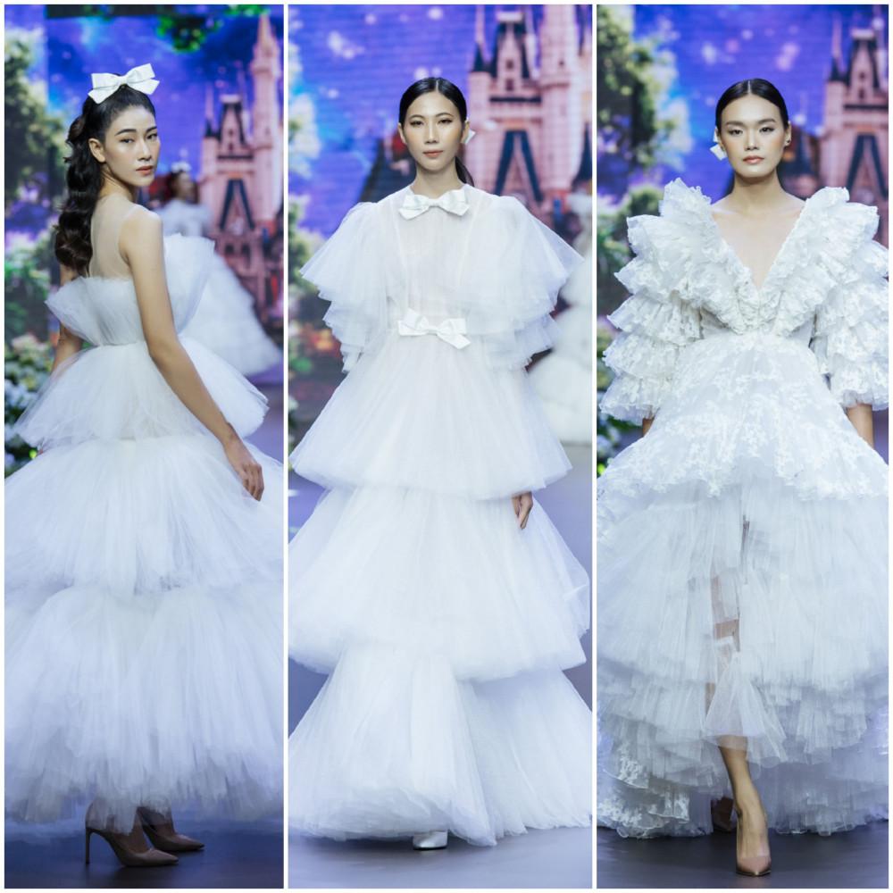 Bộ sưu tập Wedding dress kêt lại show diễn bằng những mẫu trang phục được thiết kế tinh xảo với tông trắng hoàn hảo. Đây chính là điểm nhấn giúp tôn lên thêm sự duy mỹ trong toàn bộ show diễn mà Nguyễn Minh Công đã dành thời gian đầu tư trong suốt thời gian dài vừa qua.