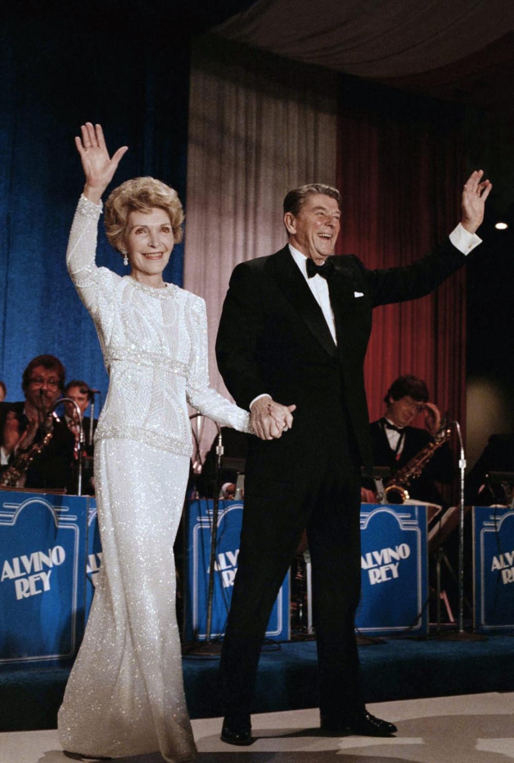 Vợ chồng tổng thống Ronald Reagan năm 1985