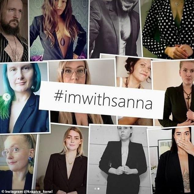Hàng nghìn bài đăng đã được chia sẻ với những bức ảnh chụp những người hàng ngày và những người nổi tiếng Phần Lan mặc trang phục gần giống nhau để ủng hộ cô Marin