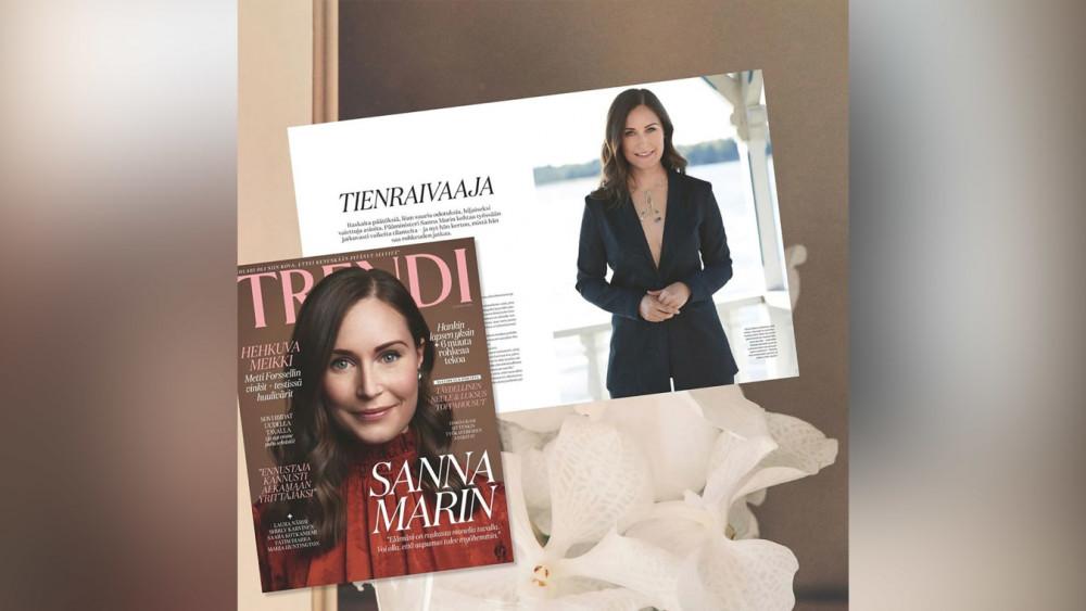Trang phục của Thủ tướng Sanna Marin vấp phải tranh cãi khi xuất hiện trên trang bìa tạp chí.
