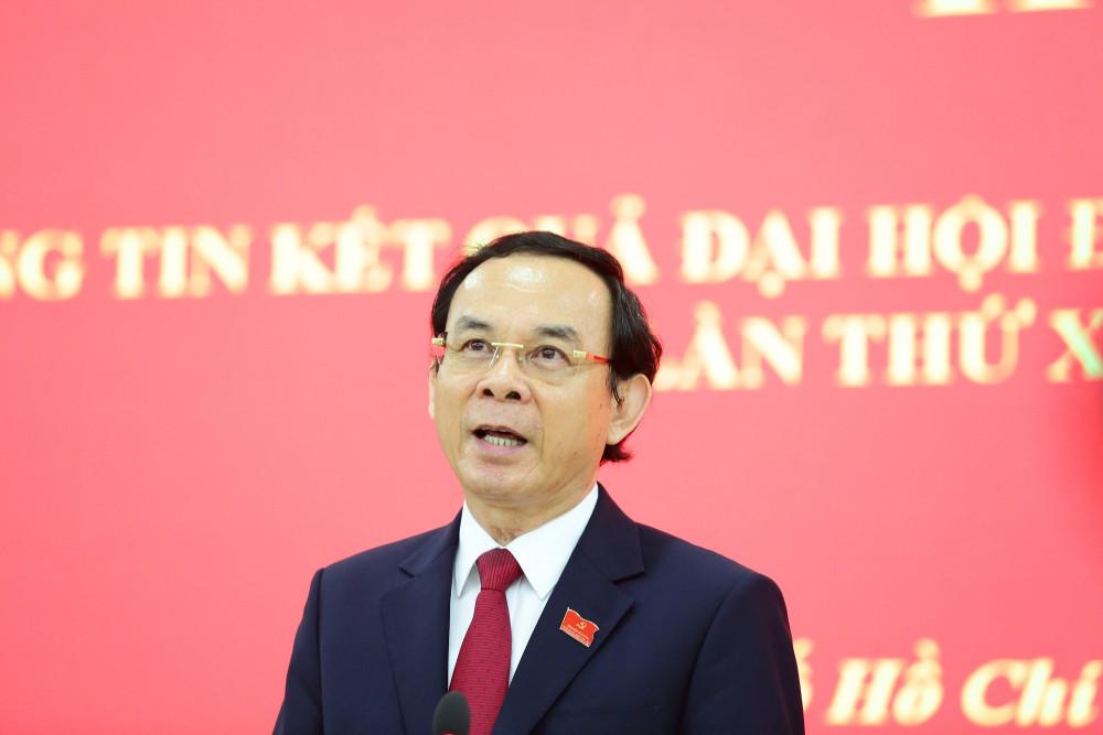 Tân Bí thư Thành ủy TPHCM Nguyễn Văn Nên thông tin về cảm xúc của mình sau khi đắc cử chức danh Bí thư Thành ủy TPHCM khóa XI