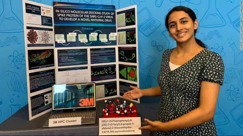Anika Chebrolu là người chiến thắng cuộc thi Thử thách Nhà khoa học trẻ 3M năm 2020 - Ảnh: CNN