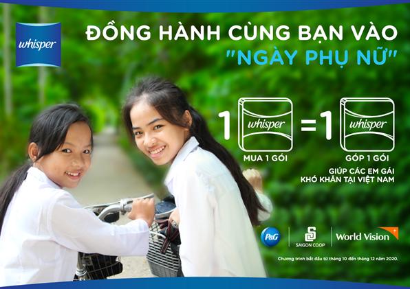 Người tiêu dùng có thể trực tiếp chung tay giúp đỡ hàng ngàn em gái kém may mắn tại Việt Nam tự tin hơn để phát huy hết khả năng của mình trong cuộc sống