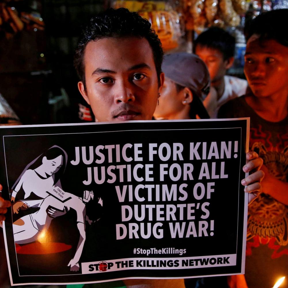 Hàng nghìn người đã thiệt mạng ở Philippines trong chiến dịch thanh trừng ma túy của ông Rodrigo Duterte - Ảnh: Reuters