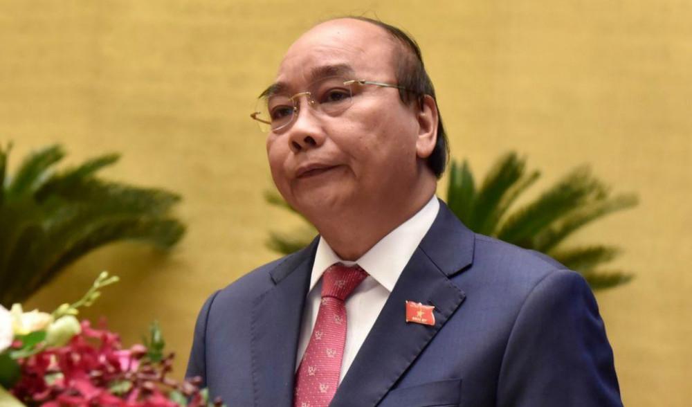 Thủ tướng Nguyễn Xuân Phúc phát biểu tại phiên khai mạc kỳ họp Quốc hội, sáng 20/10 - Ảnh: VGP