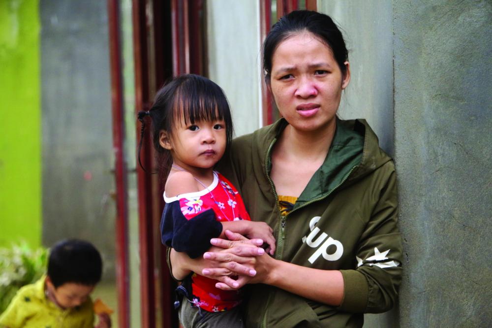 Quay quắt trong rốn lũ Hải Phong (H.Hải Lăng, tỉnh Quảng Trị) - Ảnh: Nhóm phóng viên