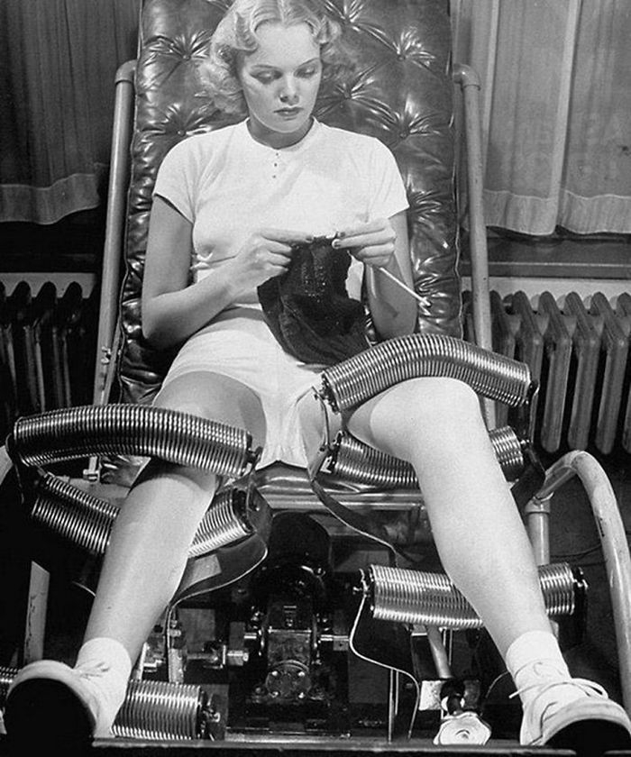 Thiết bị giảm mỡ ở đùi và bắp chân vào những năm 1940.