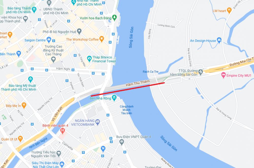 Cấm lưu thông qua hầm sông Sài Gòn trong thời gian từ 13g30-15g30 vào ngày 24-25/10