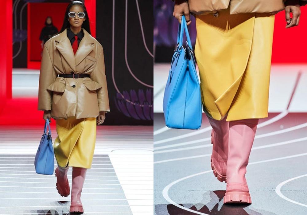 Trên các sàn diễn thu đông 2020, xu hướng giày đi mưa đã xâm chiếm và quay lại trở mạnh mẽ chưa từng thấy. Prada, Bottega Veneta và thậm chí cả Dior cũng cho ra đời mẫu giày đi mưa và tạo nên món đồ hot trend