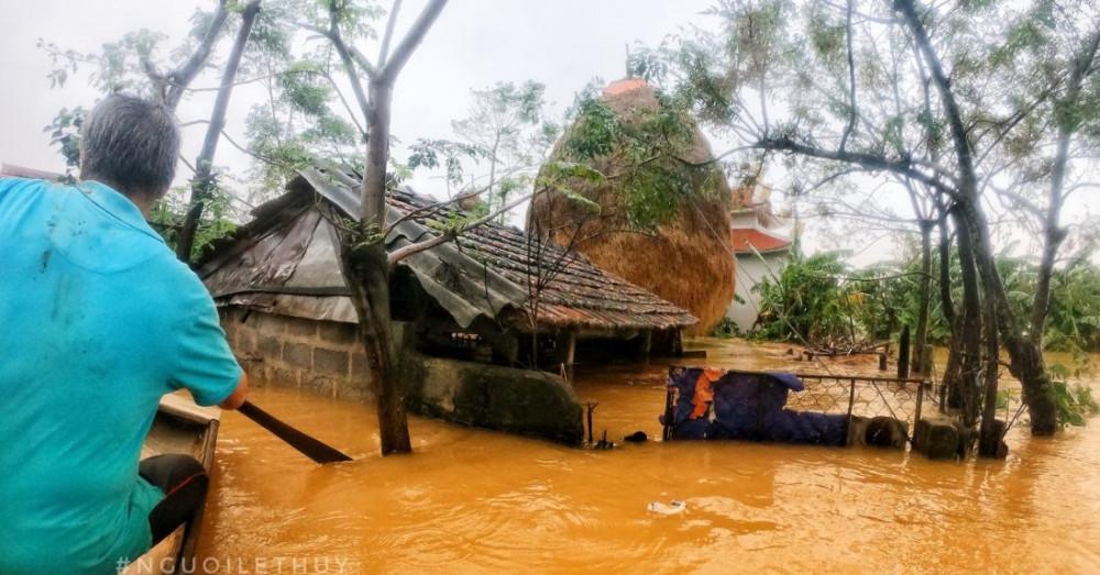 Những xã huyện vùng sâu ở Quảng Bình sẽ ra sao sau lũ? (ảnh trên trang Facebook Người Lệ Thuỷ)
