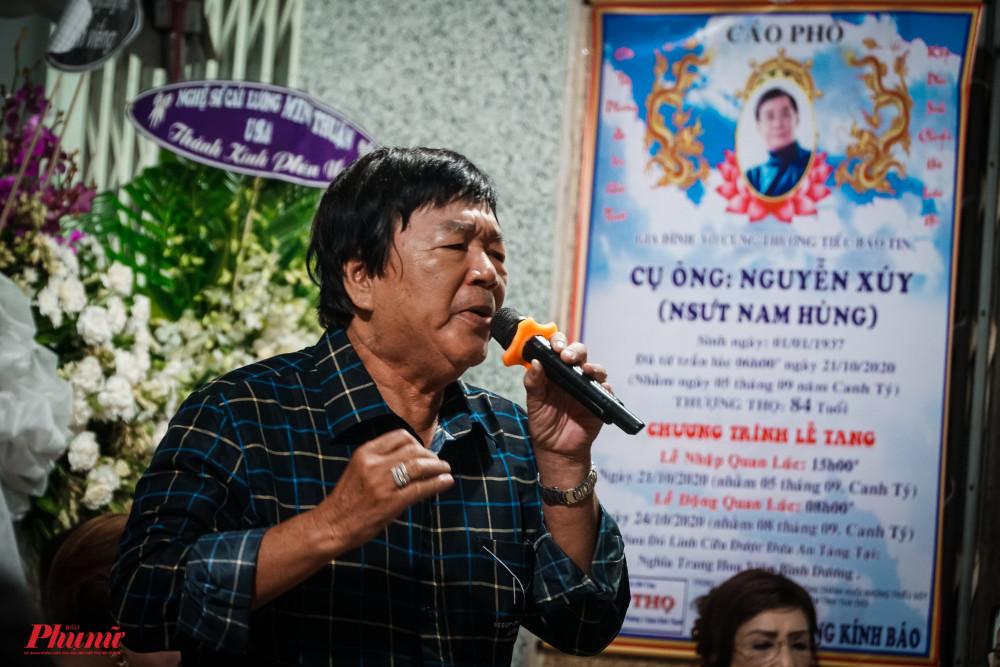 Nghệ sĩ Minh Quân hát 3 câu vọng cổ trong Tâm sự Hàn Mặc Tử