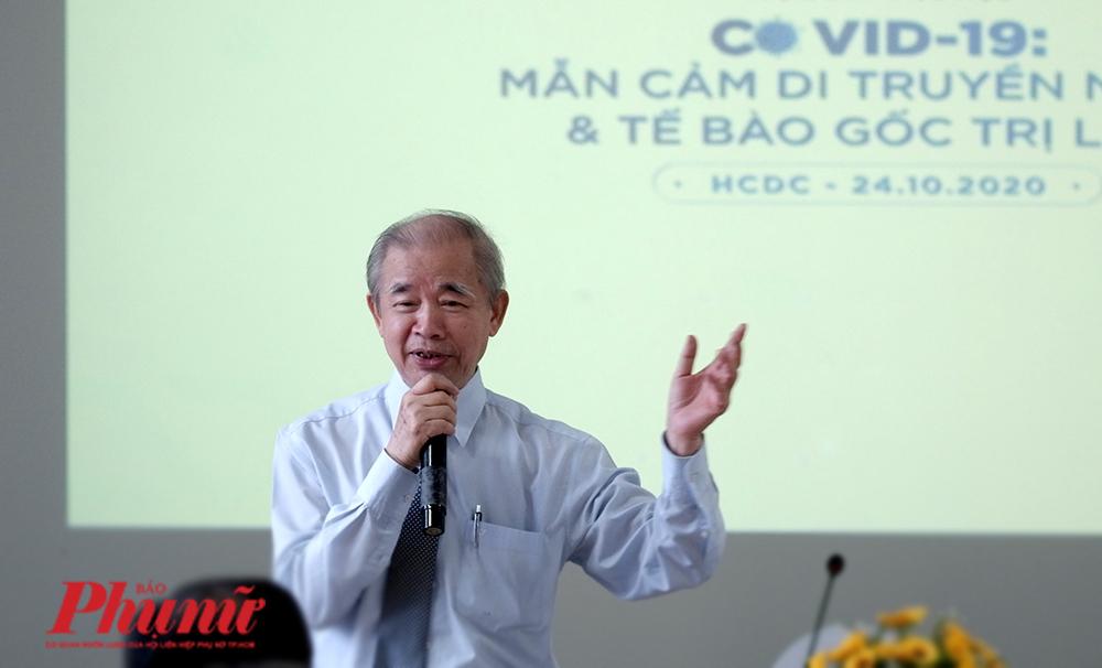 GS. Trương Đình Kiệt - Viện trưởng Viện di truyền y học tại buổi tọa đàm về mẫn cảm di truyền người sáng 24/10/2020
