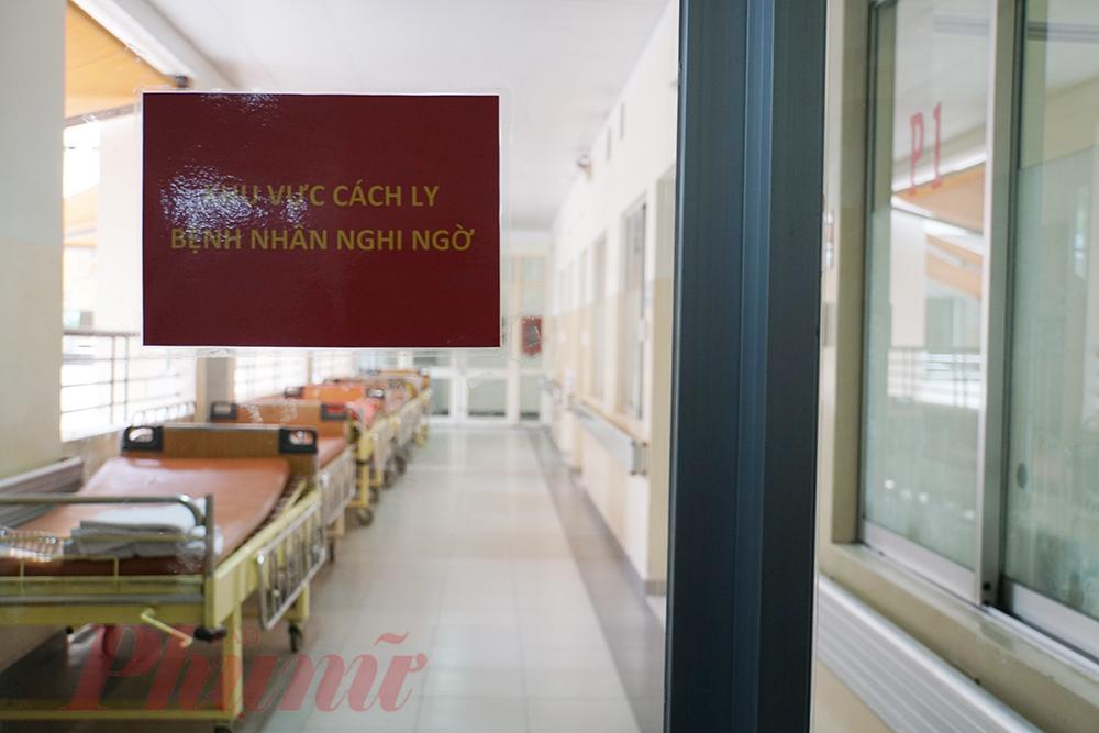 Khu vực cách ly tại Bệnh viện Bệnh nhiệt đới TPHCM