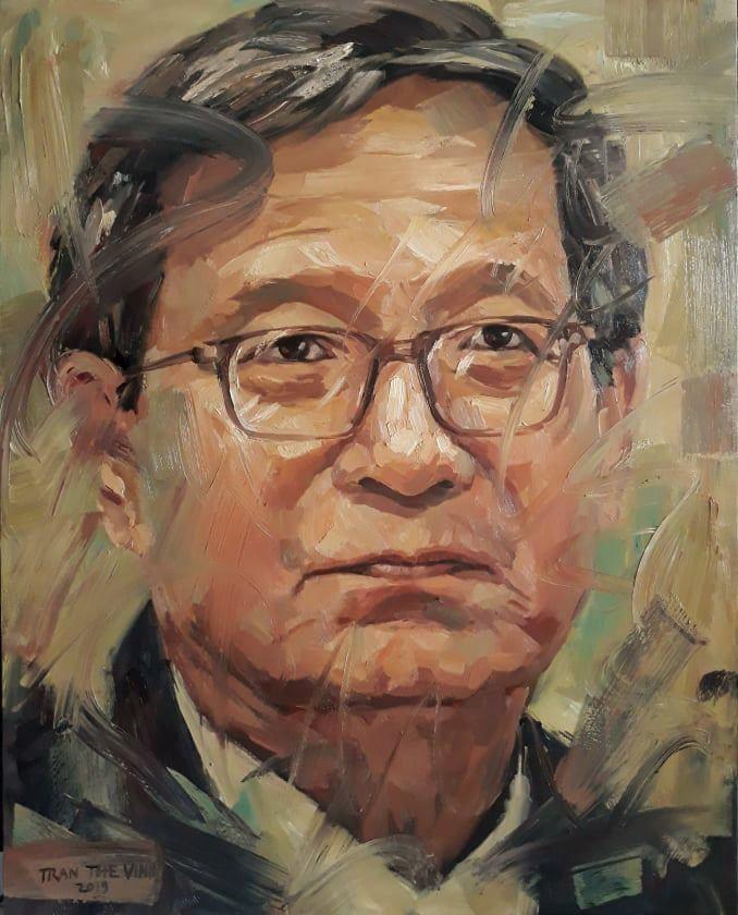 Chân dung nhà thơ Tô Thùy Yên qua nét vẽ của Trần Thế Vĩnh.