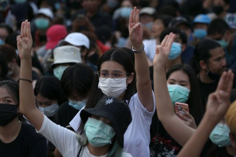 Phần lớn người biểu tình là học sinh - sinh viên
