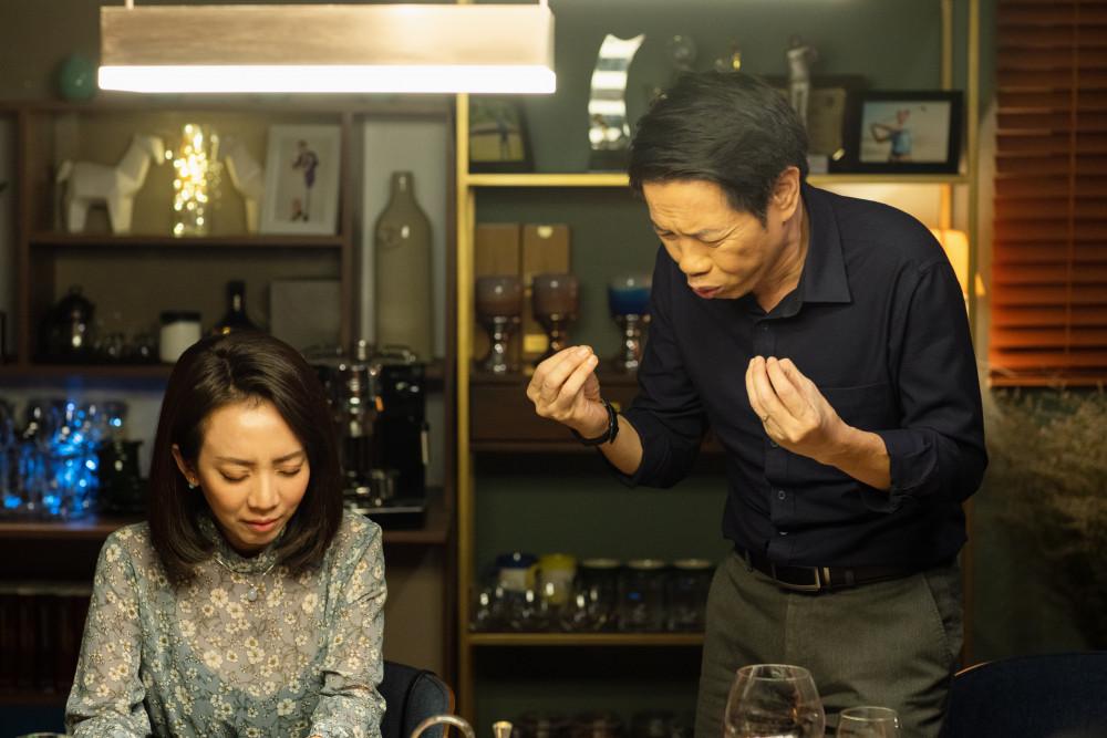 Diễn viên Thu Trang và Thái Hoà tung hứng ăn ý trên phim.