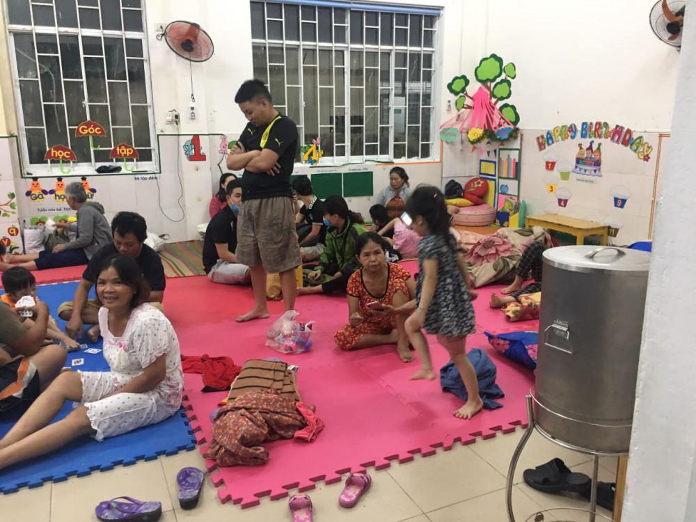 Người dân ở các khu vực xung yếu đã được Đà Nẵng đưa đến nhà tránh trú bão