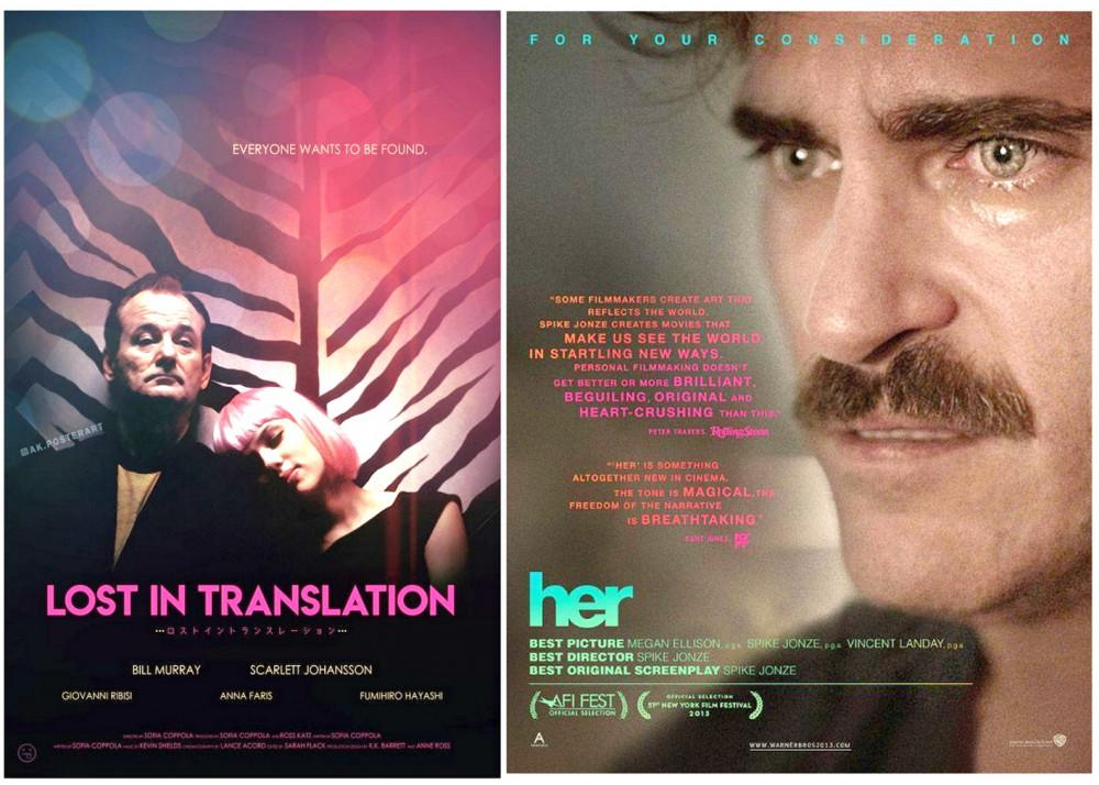 Lost in Translation và Her xoáy vào mối quan hệ của con người trong thời hiện đại đầy lạc lõng, mất kết nối