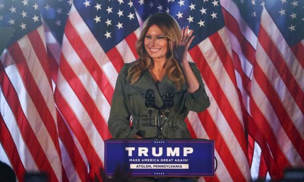 Đệ nhất phu nhân Melania Trump tại một sự kiện tranh cử ở Atglen, Pennsylvania