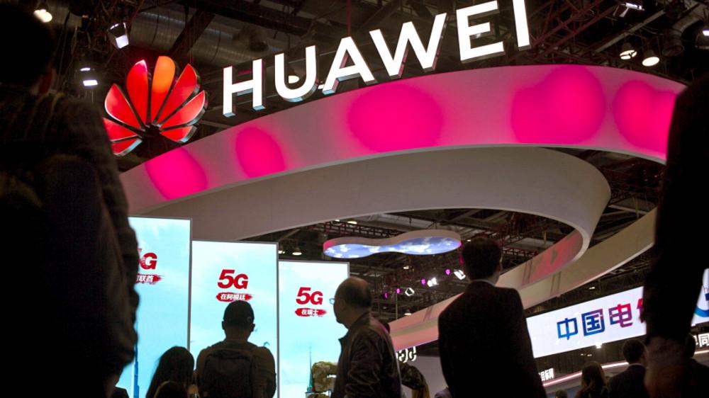 Huawei quảng cáo các dịch vụ 5G tại PT Expo ở Bắc Kinh tháng 10/2019 - Ảnh: AP