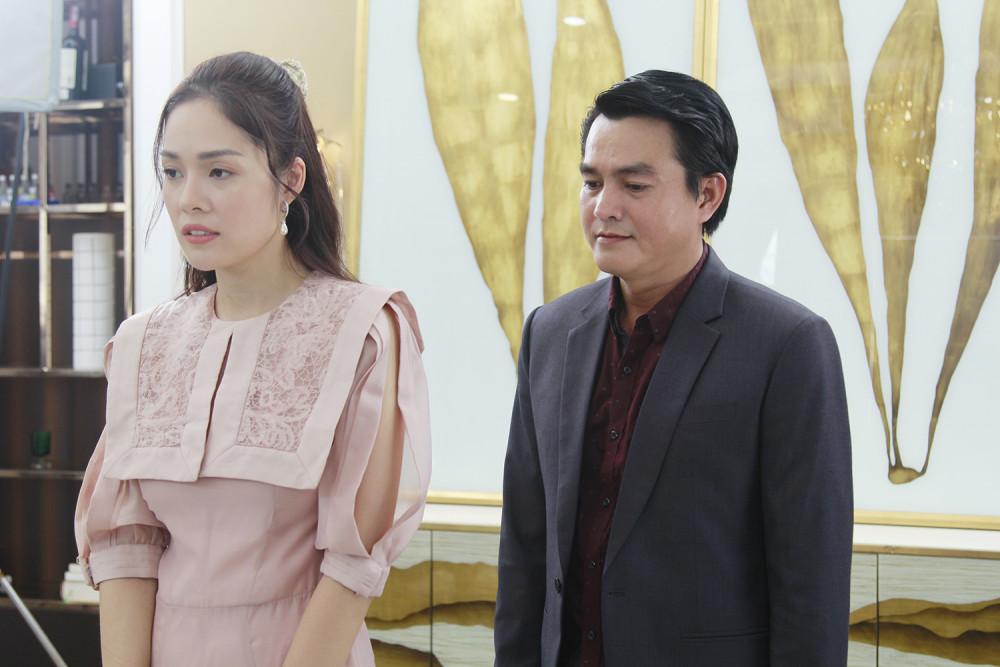 Cao Minh Đạt và Dương Cẩm Lynh trên phim Bánh mì ông Màu.