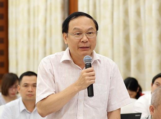 Thứ trưởng Bộ TNMT trả lời tại cuộc họp báo Chính phủ.