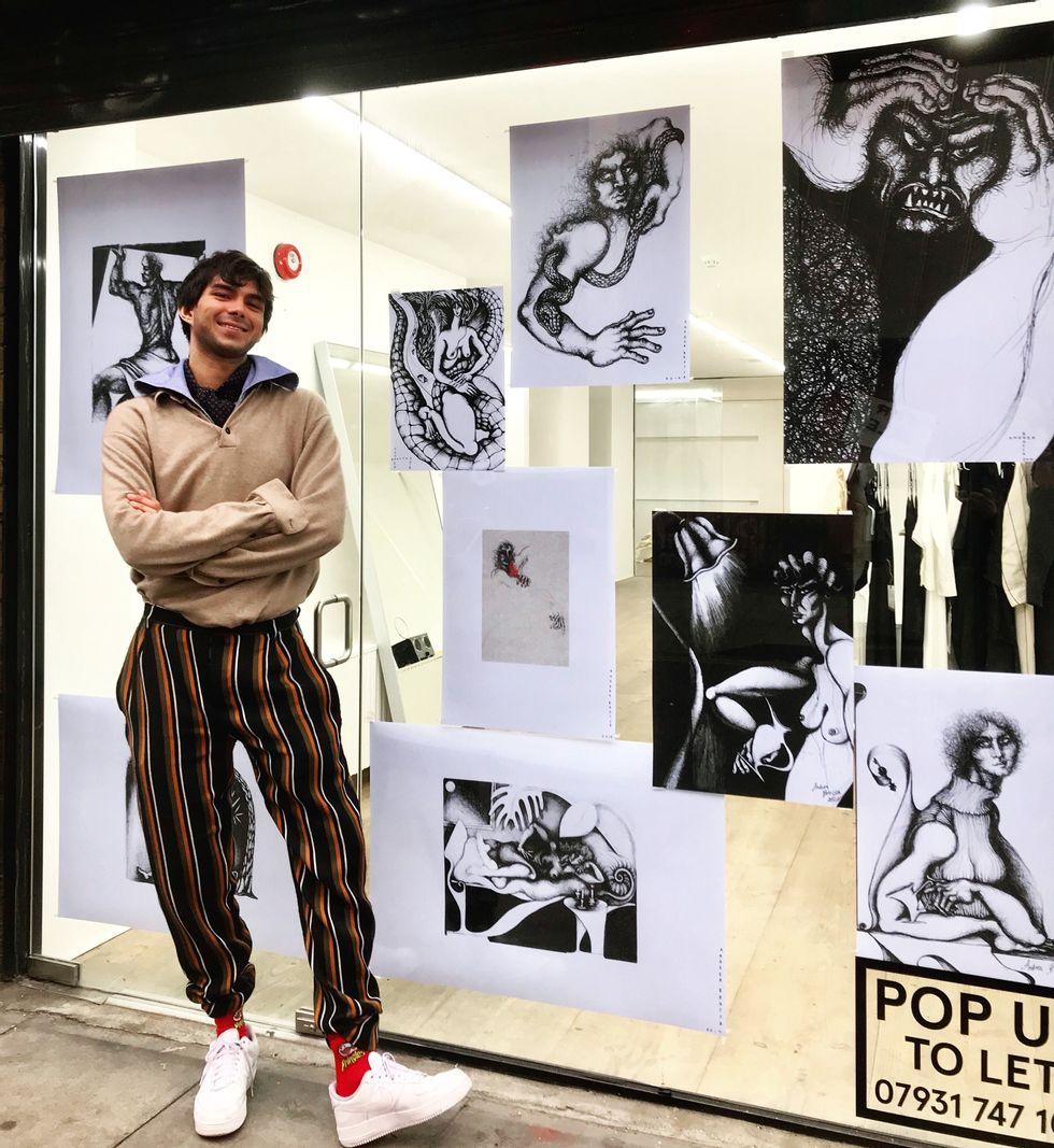 Nhà thiết kể trẻ Andrea Brocca. (Ảnh: Paper)