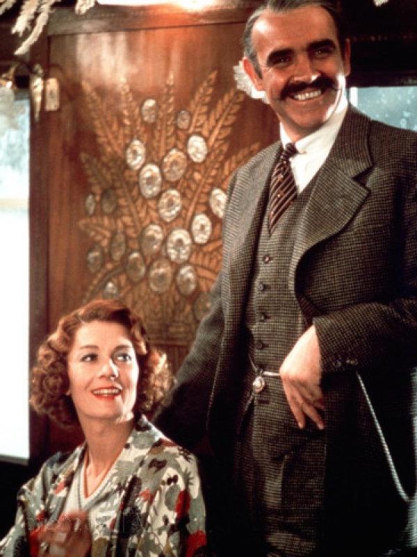 Sean Connery và Tippi Hedren trong bộ phim hình sự Marnie.