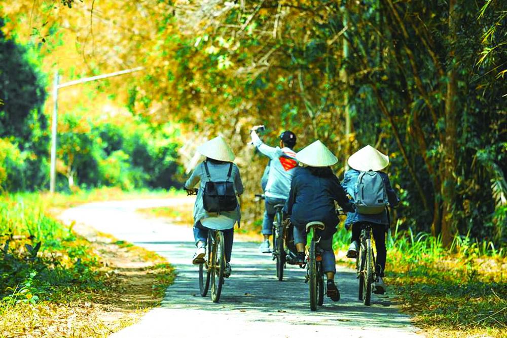 Đạp xe xuyên rừng là một hoạt động trải nghiệm thú vị khi tham quan Vườn quốc gia Cát Tiên