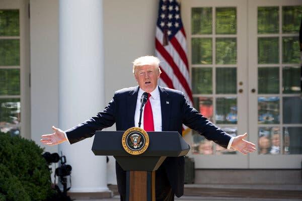 """Tổng thống Trump nói rằng Thỏa thuận Paris trừng phạt người dân Mỹ, trong khi làm giàu cho những kẻ gây ô nhiễm nước ngoài"""" - Ảnh: New York Times"""