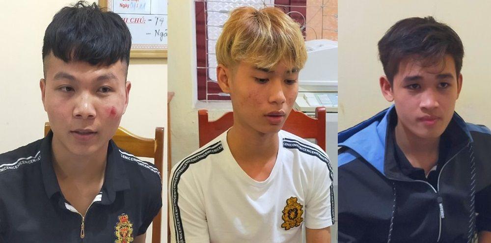 3 đối tượng Anh, Hải và Khuê bị bắt giữ.