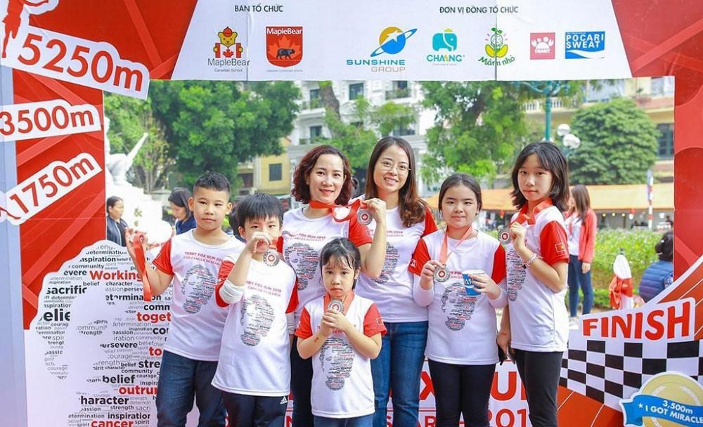 Sunshine Group nhiều năm là nhà tài trợ cho sự kiện Run For Hope hỗ trợ gây quỹ Terry Fox vì bệnh nhân ung thư tại Việt Nam. Ảnh: Sunshine Group cung cấp