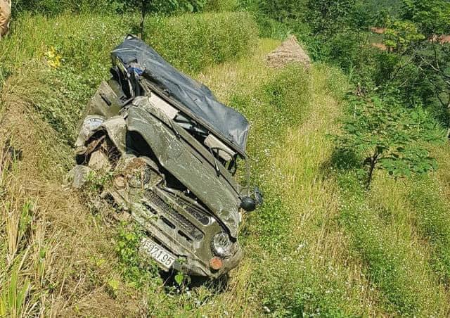 Hiện trường vụ tai nạn tại Hà Giang khiến 7 người thương vong.