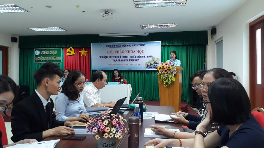TS. Nguyễn Thị Thu Hương, Phó giám đốc Phân hiệu Học viện Phụ nữ Việt Nam cho rằng việc thiếu sân chơi là nguyên nhân khiến trẻ nghiện internet