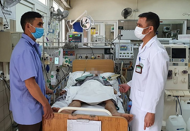 Bệnh nhân nhập viện trong tình trạng rất nặng. Ảnh: BVCC.