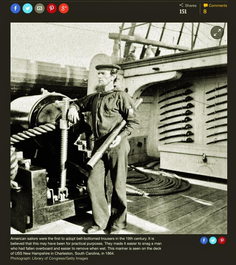 Trang phục của hải quân Hoa Kỳ ở thế kỷ XIX