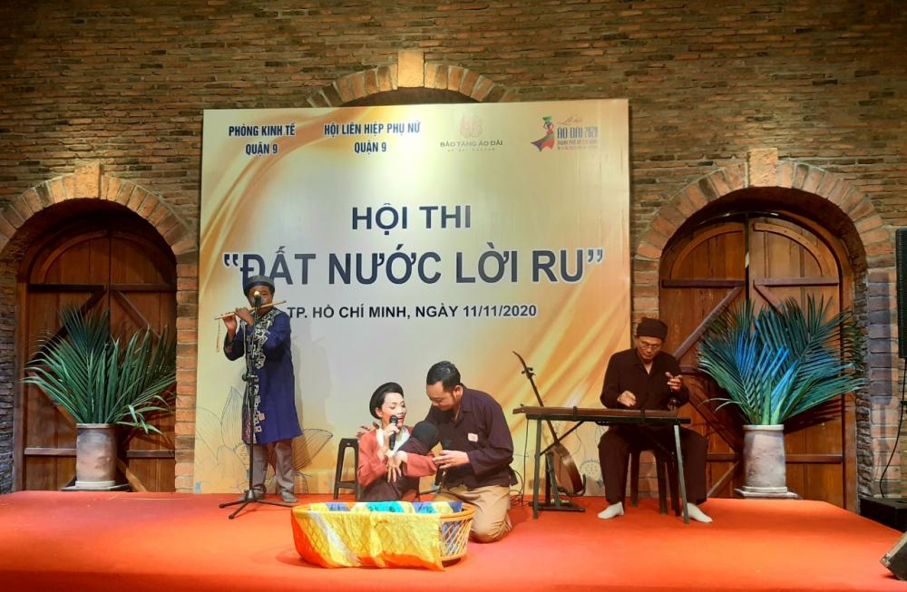 Tiết mục dự thi của đơn vị phường Phước Long B xuất sắc đoạt giải nhất.