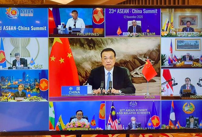 Đại diện các nước tham gia Hội nghị Cấp cao ASEAN-Trung Quốc.
