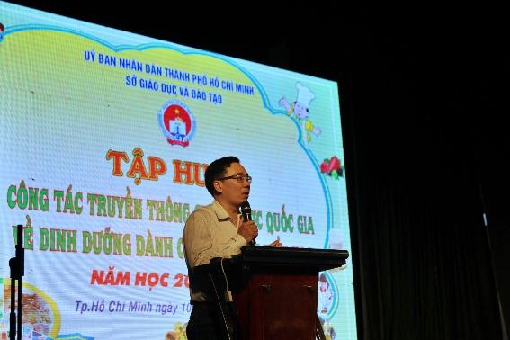 Đại diện Sở GD-ĐT TP.HCM đánh giá cao những lợi ích mà dự án mang lại. Ảnh: Ajinomoto cung cấp