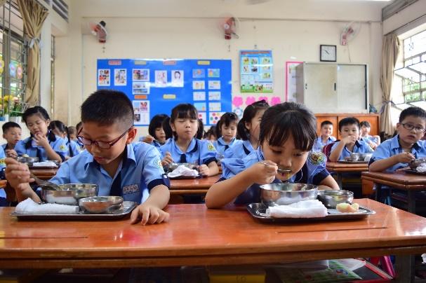 Dinh dưỡng học đường hợp lý đóng vai trò quan trọng đối với sự phát triển của trẻ. Ảnh: Ajinomoto cung cấp
