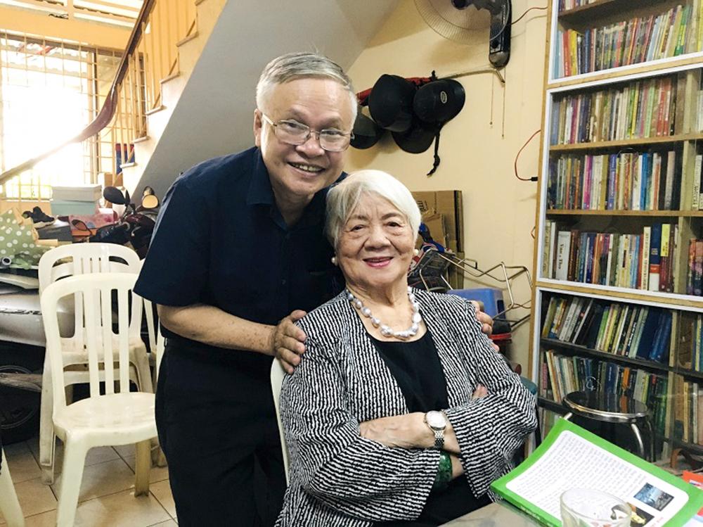 Tác giả bài viết và bà Nguyễn Thị Xuân Phượng