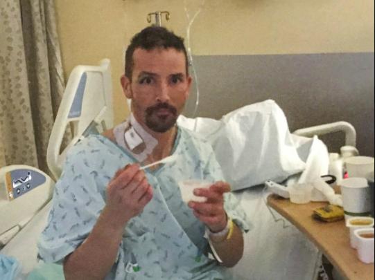 Michael Knapinski hiện vẫn còn một số rắc rối với tim, thận sau khi được cứu sống