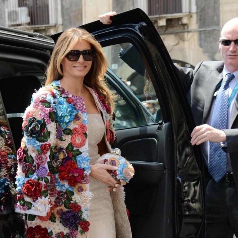 Đệ nhất phu nhân đã mặc chiếc áo khoác Dolce & Gabbana trị giá 51.000 đô la Mỹ khi xuất hiện tại G7 ở Sicily. Ảnh: A