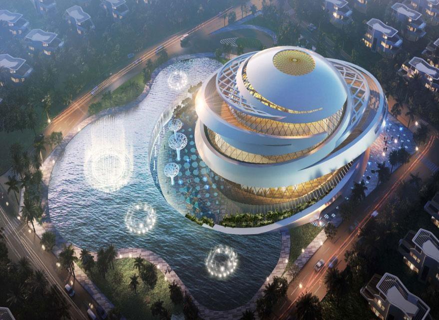 Một trong những công trình của Sunshine Heritage tại Hà Nội, nơi hàng loạt những chương trình biểu diễn nghệ thuật đỉnh cao sẽ được diễn ra khi màn đêm buông xuống. Ảnh Sunshine Group cung cấp