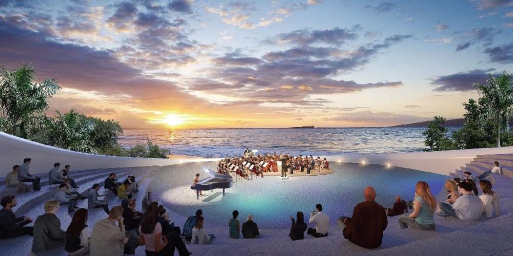 Chương trình hòa nhạc về đêm trên bờ biển -  một trải nghiệm độc đáo của Sunshine Heritage tại Phan Thiết. Ảnh: Sunshine Group cung cấp