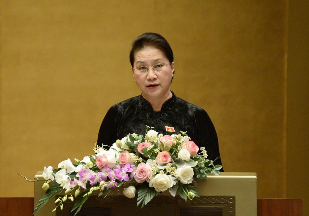 Chủ tịch Quốc hội Nguyễn Thị Kim Ngân đánh giá, Kỳ họp đã nhận những ý kiến tranh luận chặt chẽ, sắc bén