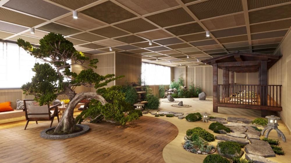 Sân vườn Nhật - tiện ích nổi bật của tòa S1 Sunshine City Sài Gòn