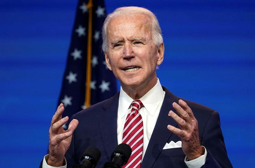 Ông Joe Biden phát biểu về nền kinh tế Hoa Kỳ sau cuộc họp ngắn với các cố vấn kinh tế ở Wilmington, Delaware - Ảnh: Reuters