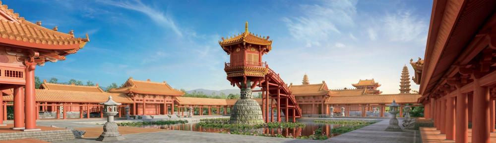 Mô hình chùa được phỏng dựng
