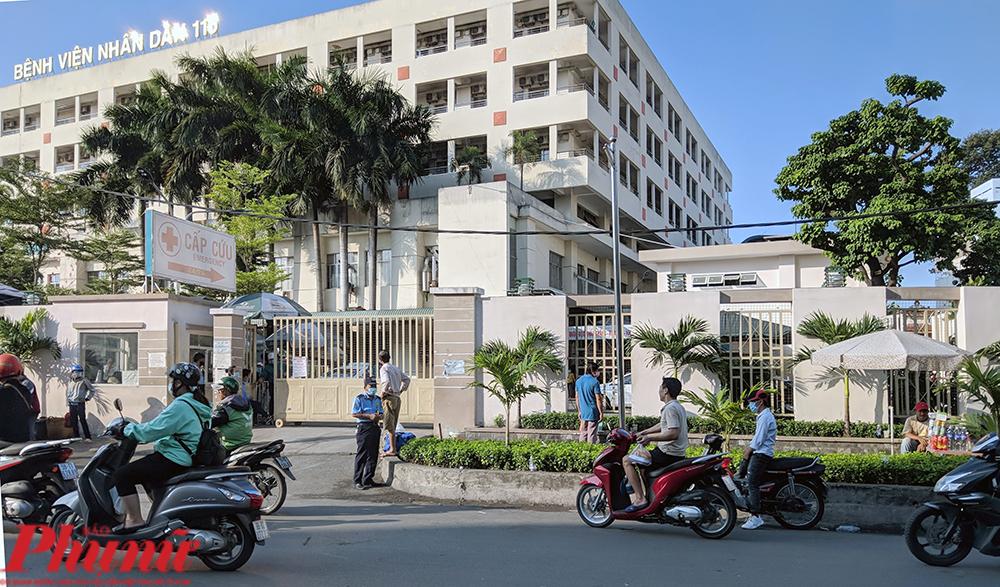 Cổng cấp cứu Bệnh viện nhân dân 115